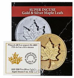 2021 Canada 1 Oz Silver Maple Leaf Super Incuse Inverser 20 $ Pièce Ngc Pf70 Fr Bc