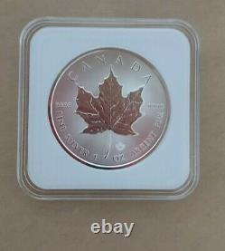 2021 Canada 1oz Maple Leaf Silver Coins X Lot De 5