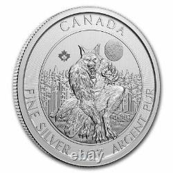 2021 Canada 2oz Créatures Du Loup-garou Du Nord Pièce D'argent Pur (pleuillez Lire)