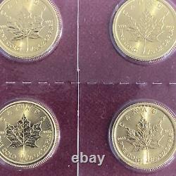 2021 Canada 5 Dollars 1/10 Oz Feuille D'érable D'or. 9999 Bu Menthe Scellée