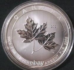 2021 Royal Canadian Mint Magnifique Maples 10 Oz Maple Leaf Silver Coin. 9999