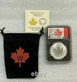 2021 W 5 $ Canada Sur Mesure Specimen Maple Leaf Ngc Sp70 Premier Jour Taylor Signé