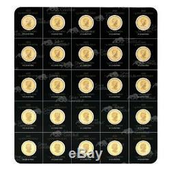 25 G (25 X 1 G) 2020 Sheet Maplegram25 De Pièces D'or