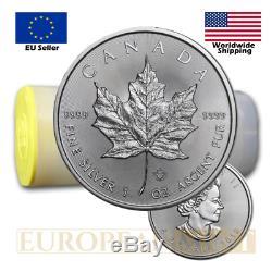 25 X 2019 $ Cad 5 1 Once D'argent Du Canada Feuille D'érable (tube)