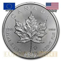 25 X 2020 5 $ Cad 1 Once D'argent Du Canada Feuille D'érable (tube)