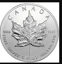 25x1 Oz. 9999 Argent 2013 Maple Leafs Canadiens