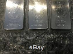 3 Sealed Silver Bar Monnaie Royale Canadienne Rcm Ebay 10 Oz Ounce Des Numéros De Série