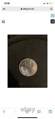 4 Pièces De Monnaie 2011 1oz Argent Canadian Silver Leaf Bullion Pièces De Pays Uncirculé