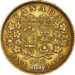 # 475051 Coin, Canada, George V, 5 Dollars, 1912, Monnaie Royale Canadienne, Ottawa