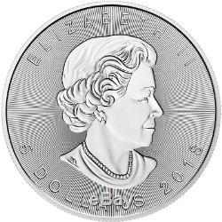 5 $ Canada 1 Once D'argent Feuille D'érable Nébuleuse Du Crabe Espace Feuille. 9999 Boîte Fine Et Cap