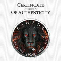 5 $ Canada 1 Oz D'argent Maple Leaf Spirit Lion. 9999 Boîte, Capsule, Coa