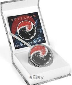 5 $ Canada 1 Oz D'argent Superman Batman Lutte Contre Superman. 9999 Box, Cap, Coa