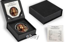 5 $ Canada 1 Oz Silver King Tut Maple Leaf Coin. 9999 Amende Limitée Mintage
