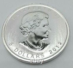 5 X 1 Oz Argent Feuille D'érable Monnaie Des Lingots. 9999 Livraison Gratuite