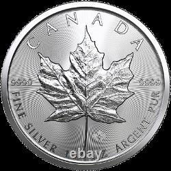 50 Oz 50 X 1 Oz 2019 Silver Maple Leaf Coin Rcm. 9999 Ag