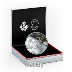 Année Du Rat 2020 15 $ 1 Once Argent Pur Monnaie Monnaie Royale Canadienne