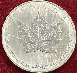 Canada 1 Oz Palladium 50 Dollars 2005 Feuille D'érable Bu
