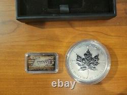 Canada 1998 10 Oz Feuilles D'érable 50,9999 $ 10e Anniversaire
