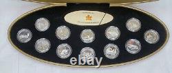 Canada 1999 Millennium 25 Cent Sterling Silver Proof 12 Ensemble De Pièces