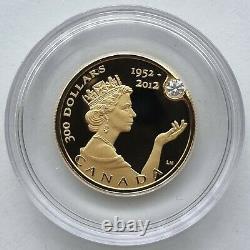Canada 2012 300 $ Jubilé De Diamant 22g Pièce De Preuve D'or Monnaie Royale Canadienne