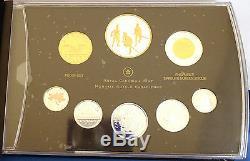 Canada 2012 Guerre De 1812 Silver Dollar 99,99% Argent Pur 8 Coin Proof Set + Gold