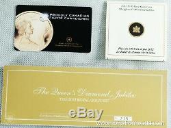 Canada 2012 Le Queens Jubilé De Diamant Monnaie Royale Canadienne D'or 3-monnaie Pièce D'or
