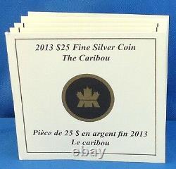 Canada 2013 25 $ Caribou 1 Oz. Pièce D'épreuve D'argent Pur O Canada Série #4