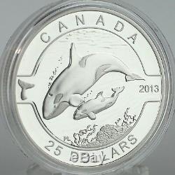 Canada 2013 $ 25 Orca 1 Oz 99,99% Pure Proof Silver Series Coin O Canada # 5