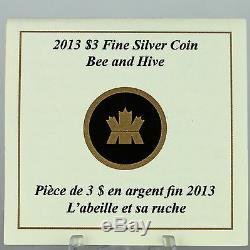 Canada 2013 $ 3 Bee & Hive, Série Architectes Animaux # 1, 1/4 Oz Argent Pur Coin