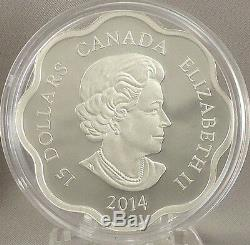 Canada 2014 15 $ Année Du Cheval Pur À 99,99% Lunar Silver Lotus Proof Coin