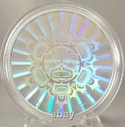 Canada 2014 $ 20 Interconnexions Terre Le Beaver 1 Oz Argent Pur Hologram Coin