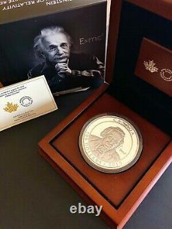 Canada 2015, 10 Oz. Pièce En Argent Fin Albert Einstein Mintage1 500