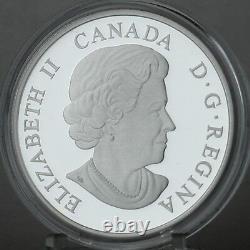 Canada 2015 20 $ Majestic Elk 1 Oz 99,99 % Pure Silver Color Proof Coin