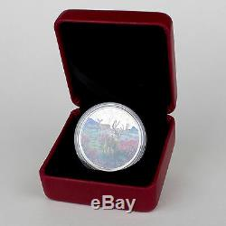 Canada 2015 $ 20 Matin Brumeux Mule Deer, 1 Oz 99,99% Pure Couleur Silver Coin Proof