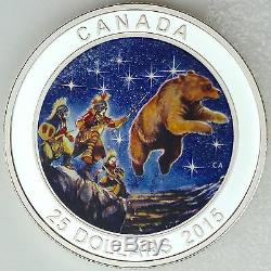 Canada 2015 25 $ Great Ascent Pure Silver Glow-in-the-dark Proof Coin Couleur # 3