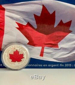 Canada 2015, Feuille D'érable En Argent Fin Fractional Set 5 Pièces De La Monnaie Royale Canadienne