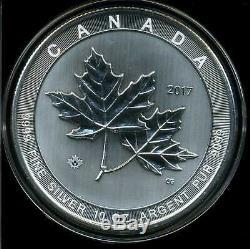 Canada 2017 50 $ Brillant Uncirculated 10 Oz 999 Argent Maple Leaf Capsule