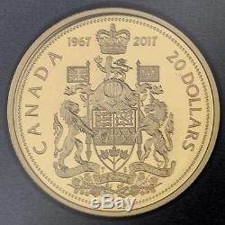 Canada 2017 Commémorative En Argent Pur 7 Coin Ensemble Épreuve Numismatique 1967 Coins Du Centenaire