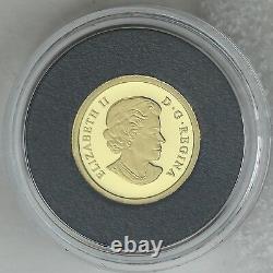 Canada 2017 La Feuille D'érable En Argent 1/25 Onces. L'or Pur 50-cents Proof Coin