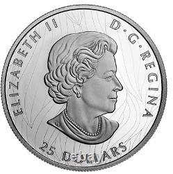 Canada 2020 25 $ Fier Pygargue À Tête Blanche 1 Oz Argent Pur Ehr Monnaie Royale Canadienne