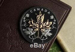 Canada 2020 Noir Maple Leaf In Motion 5 Oz Silver Proof