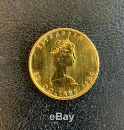 Canada Feuille D'érable D'or Pièce De 1 Oz 50,9999 $ Fin 1984