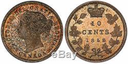 Canada. Victoria 1858 Ar 10 Cents. Pcgs Sp65 + Monnaie Royale Canadienne Km 3