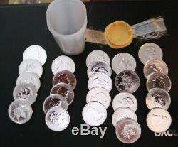 Cinq (5) Pièces 2009 Canada 1 Oz D'argent Coins Feuille D'érable