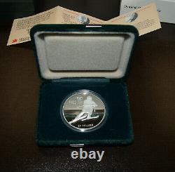 Ensemble De 10 Pièces D'argent 1 Onces D'argent Canada Coins1988 Jeux Olympiques De Calgary 20 $