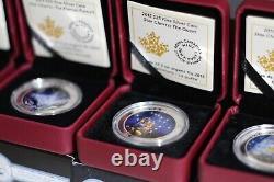 Ensemble De Cartes 4 Étoiles (2015). 9999 Pièces D'argent (monnaie Royale Canadienne)