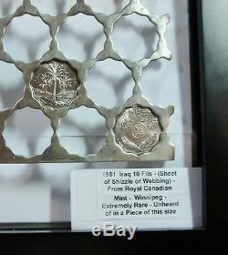 Festonné 84 Trous Webbing Énorme Rare Monnaie Royale Canadienne