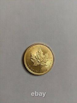 Feuille D'érable Canadienne 2018 1 Oz. 9999 Fine Gold 50 $ Pièce De Monnaie