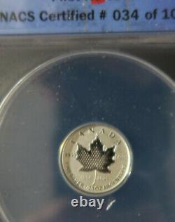 Feuille D'érable Du Canada. 9999 Fractionnement Argenté 5pc. Set Pulsating 2021 25e Anniv