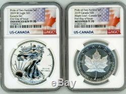 Fierté 2019 De Deux Nations Ngc Pf 70 Dcam Canadian Mint Set Fdoi